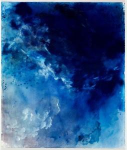 Himmel, 150 x 125 cm, Mischtechnik auf Bütten