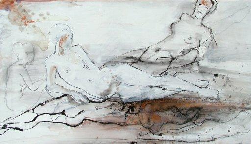 Akt Figur Tuschemalerei