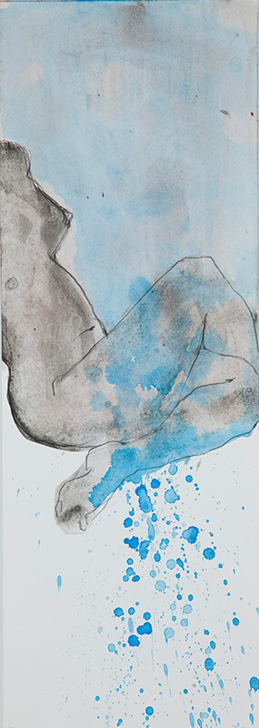 Acryl und Graphit auf Papier | 70 x 25 cm