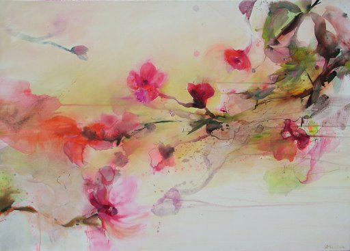 Malerei Farbe Magnolie
