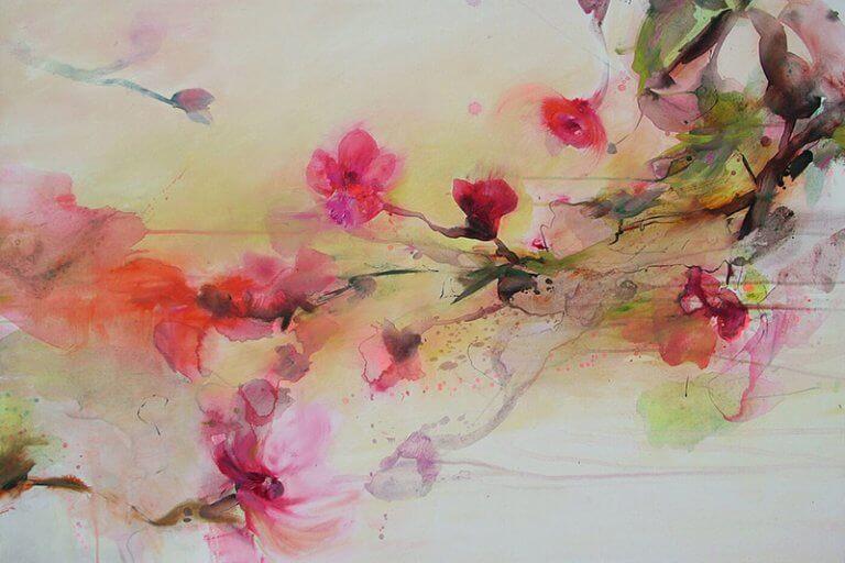 Rote Magnolie