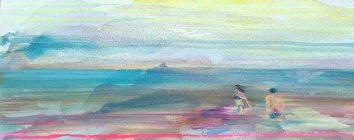 Wasserbild Strandbild