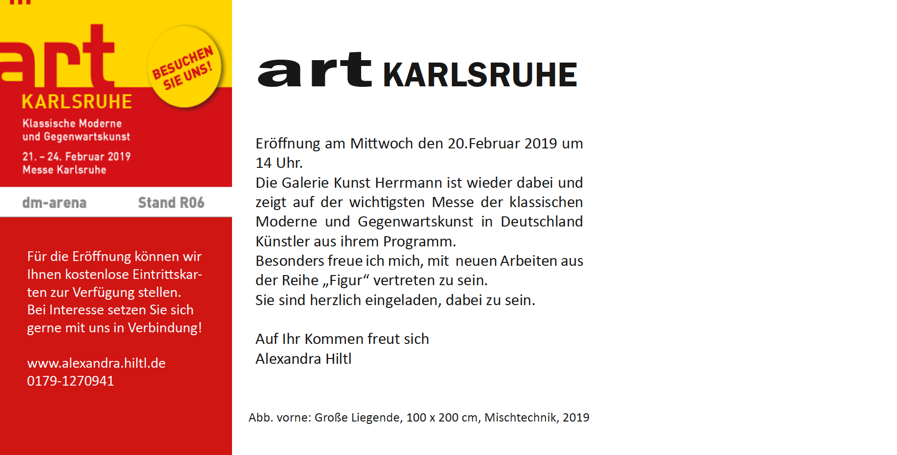 Art Karsruhe flyer