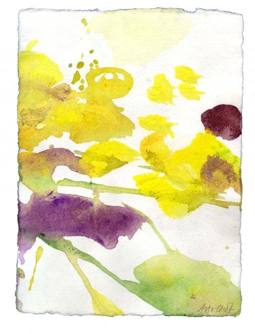 13 x 18 cm Acryl auf Bütten