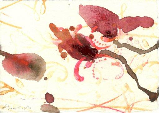 10 cm x 15 cm Acryl auf Bütten