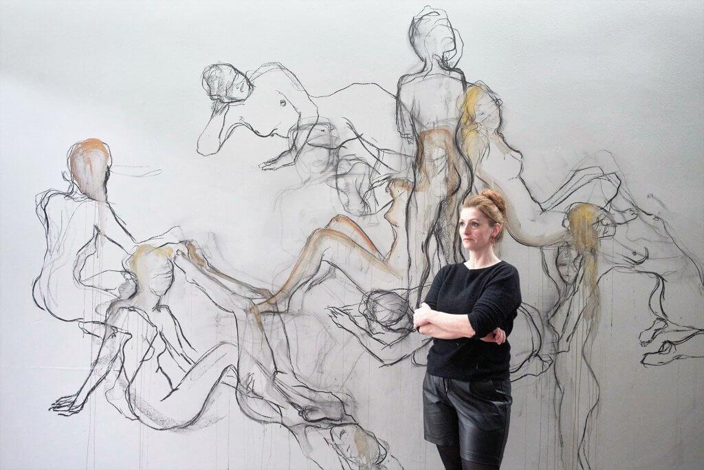 Alexandra Hiltl Performance Akt Malerei
